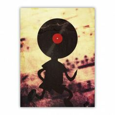 Vinyl Records DJ Man Cool Funny Wood Print $29.96