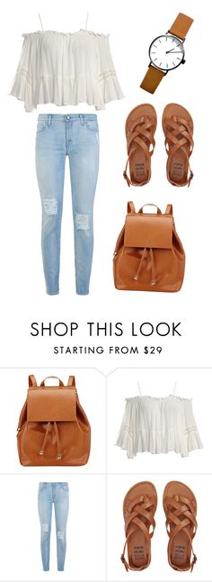 """""""Untitled #23"""" by maephelps ❤ liked on Polyvore featuring Barneys New York, Sans Souci, 7 For All Mankind and Billabong"""