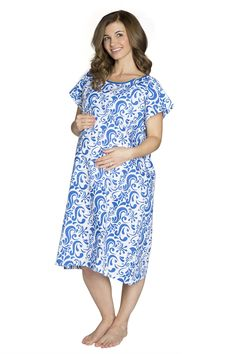 Gownies - Labor & Delivery Maternity Hospital Gown at Amazon Women's Clothing store: Maternity Nightgowns