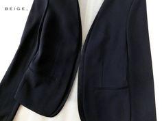 """◆ベイジ◆BEIGE,◆2014年 濃紺ネイビー ノーカラージャケット /【Buyee】 """"Buyee"""" 日本の通販商品・オークションの代理入札・代理購入"""