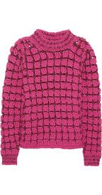 Marc JacobsHand-crocheted wool-blend sweater