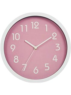 Binwo Modern Colorful Stylish Elegant Silent Non-ticking Home Kitchen/Living Room Wall Clock 10 Inches (Pink) ** See this great product. (This is an affiliate link and I receive a commission for the sales) Best Wall Clocks, Wall Clock Silent, White Bathroom Accessories, Decorative Accessories, Wall Clock Elegant, Outdoor Light Fixtures, Outdoor Lighting, Digital Wall, Living Room Kitchen