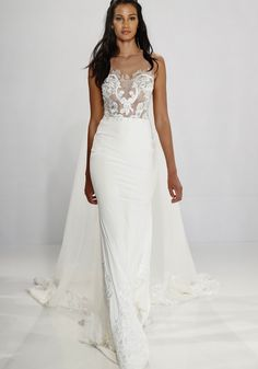 Tony Ward | Lace Embroidered Sexy Wedding Gown | Designer Bridal Room