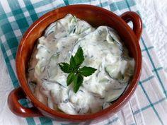 Majonézes cukkinisaláta Cold Dishes, Hungarian Recipes, Hungarian Food, Tzatziki, Pavlova, Coleslaw, Mashed Potatoes, Soup, Gluten Free
