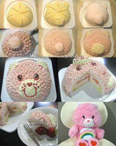 Care Bear Cake (Tutorial in Japanese)