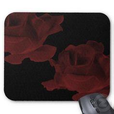 Dark Red Rose Mousepad
