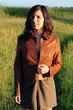 ladulsatina Sewing and DIY fashion blog: leather jacket and playsuit - jacket detail