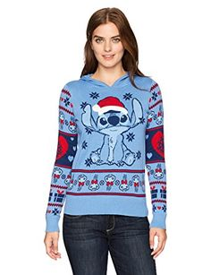 Looking for Hybrid Apparel Women's Santa Stitch Pompom Hoodie Holiday Sweater ? Check out our picks for the Hybrid Apparel Women's Santa Stitch Pompom Hoodie Holiday Sweater from the popular stores - all in one. Lilo En Stitch, Lilo And Stitch Quotes, Disney Stitch, Holiday Sweater, Ugly Christmas Sweater, Christmas Tops, Sweater Outfits, Cute Outfits, Summer Outfits