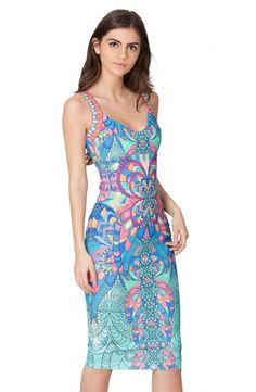 Reiko Fitted Stained Glass Dress