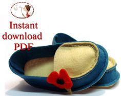 Baby Shoes Sewing pattern  Wool Felt Mocs by LenasShoePatterns, $4.50