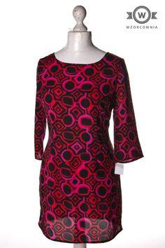>> Wzorzysta #sukienka/tunika z rękawem 3/4 Wzorcownia online   #woman #dress #TU