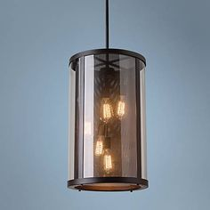 """Feiss Bluffton 15"""" Wide Oil-Rubbed Bronze Pendant Light"""