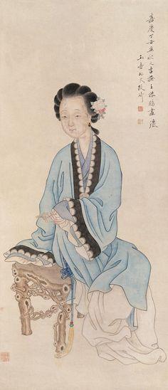 Gai Qi (改琦) ,   仕女 1817年作
