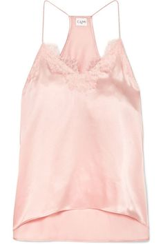 CAMI NYC - Racer lace-trimmed silk-charmeuse camisole
