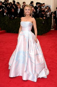 Hayden Panettiere, who is reportedly pregnant, walks the red carpet at the Met Gala on May 5 in New York.
