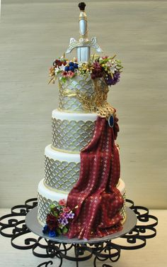 Game of Thrones-Themed wedding cake-The Cake Zone