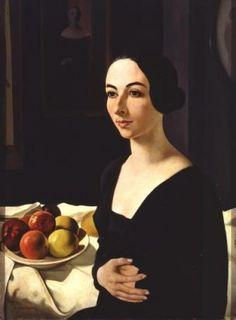 Portrait of Hena Rigotti, 1924 by Felice Casorati (Italian 1883-1963)