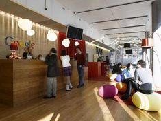 Google's Zurich office reception area enough said. bean bags drop lights. love Google.