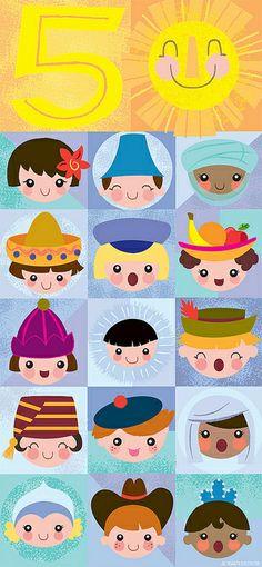 happy 50th, small world!! by Jill Howarth
