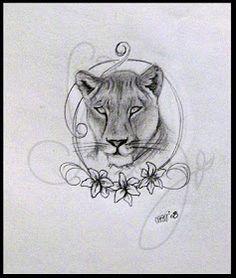 Lioness Tattoo on Pint...