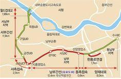 강남순환도시고속도로 계획도. / 자료제공=부동산에 미친 사람들의 모임