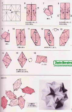 Origami Diagram For Morning Glory Flower Page 2 Asagao Kusudama By Tomoko Fuse