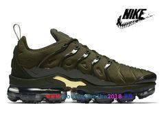 0a1e2ca5a7 Nike Air VaporMax Plus Chaussures de Basketball Nike TN Pas Cher Homme Noir  Olive Vert 924453_300