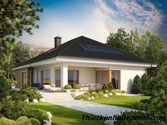 Bungalow with attic to adapt, basement and a garage for two cars – Amazing Architecture Magazine Bungalow Haus Design, Modern Bungalow House, Modern House Plans, Modern House Design, Bungalow Designs, Modern Bungalow Exterior, Architecture Design, Architecture Magazines, Amazing Architecture