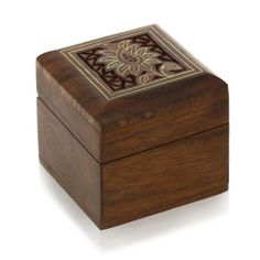 Small Jewelry Wooden Gift Box For Rings Cufflinks Toe Rings Earrings