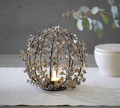Faceted Mirror Sphere Tealight Holder #potterybarn