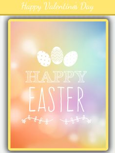 Happy Easter Day , Try this app to create beautiful greetings https://itunes.apple.com/us/app/valentines-day-greetings-card/id1204160422?ls=1&mt=8