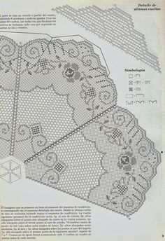 Kira scheme crochet: Scheme crochet no. Filet Crochet, Crochet Diagram, Crochet Round, Thread Crochet, Cute Crochet, Crochet Stitches, Crochet Tablecloth Pattern, Crochet Doily Patterns, Tatting Patterns