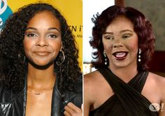 'Saved By The Bell' Star Lark Voorhies before and after pic - hopefully it's just bad make up...