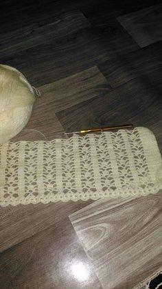 Crochet Borders, Crochet Stitches Patterns, Crochet Motif, Crochet Designs, Crochet Doilies, Stitch Patterns, Knit Crochet, Crochet Bedspread, Crochet Bebe