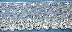 Antique/vintage Mechlin lace edging early 19th century - Pat Earnshaw collection