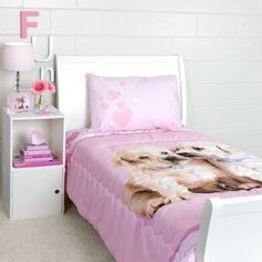 Puppy Love Twin Quilted Comforter Set