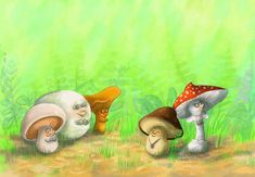 Mushroom story by balgeza on DeviantArt Stories For Kids, Digital Illustration, Textbook, Disney Characters, Fictional Characters, Stuffed Mushrooms, Deviantart, Disney Princess, Content