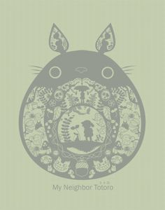 My Neighbor, Totoro came out in 1988 and was directed by Hayao Miyazaki and created by Studio Ghibli. Hayao Miyazaki, Anime Manga, Anime Art, Ghibli Movies, My Neighbor Totoro, Paper Cutting, Sailor Moon, Otaku, Creations