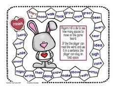 FREEBIE! FREEBIE! FREEBIE! Three game boards for First and Second Graders! All you need to add is a die and player markers. Enjoy!  * Valentines Day Theme * St. Patricks Day Theme * Sock Monkey Theme  Click for more SIGHT WORD PRODUCTS!  http://www.teacherspayteachers.com/Store/Teacher-Features https://www.facebook.com/TeacherFeaturesFun http://www.pinterest.com/RFC9124  Graphics: Educlips; El Tendedero; Kari Bolt