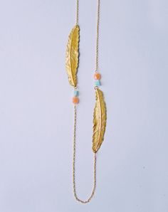 Spread Your Wings Feather Necklace — Eclectic Eccentricity Vintage Jewellery