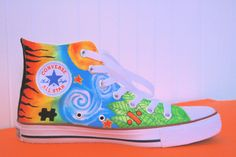 Ed Sheeran Tattoo Painted Converse on Etsy, $186.40 CAD I want these so bad!!