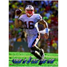 Russell Wilson Wisconsin Badgers Football Poster
