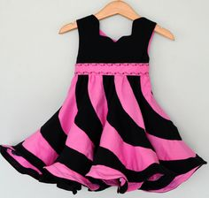Peppermint Swirl Dress pattern for girls - the most beautiful Pink Ladies dress in the world
