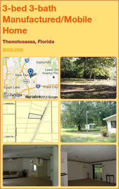 3-bed 3-bath Manufactured/Mobile Home in Thonotosassa, Florida ►$500,000 #PropertyForSale #RealEstate #Florida http://florida-magic.com/properties/9644-manufactured-mobile-home-for-sale-in-thonotosassa-florida-with-3-bedroom-3-bathroom