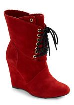 Betsey Johnson Bright Said Red Boot | Mod Retro Vintage Boots | ModCloth.com