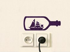 This ship in a bottle velvet decal can be applied to almost any surface such as walls, windows, Laptops and iPads.  - If you want the bottle to point to the left, please write in NOTE TO Mirshkastudio: opposite direction   size:  W: 6.5 (16.5 cm) H: 2.5 (6.3 cm)   For other ideas click the links below:  Movie / Cartoon Decals: https://www.etsy.com/shop/Mirshkastudio?section_id=15664376  Animal Decals https://www.etsy.com/shop/Mirshkastudio?section_id=15662817  Home Decor Decals…