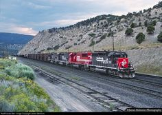 A fine quartet of standard cab EMDs pull Southern Pacific's RVKCM through the center siding at Gilluly on Aug. 24, 1996.