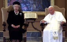 October 2000: The Queen with Pope John Paul II at the Vatican