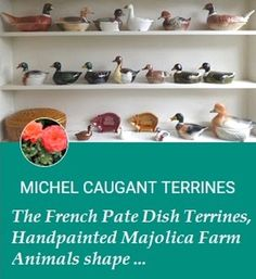 Go pentyofamelie.com - Michel Caugant Terrines French hand made handpainted faience terrines,  #michelcaugant #cow #vintageterrines