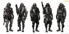 Present+Future — rocketumbl: Killzone Shadow Fall Concept Art Futuristic Armour, Futuristic Art, Killzone Shadow Fall, Combat Armor, Military Armor, Military Gear, Sci Fi Armor, Future Soldier, Armor Concept